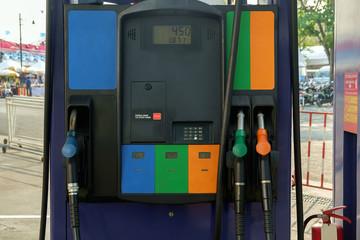 Petrol station / View of petrol pump station.