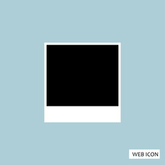 Blank photo Polaroid Icon Vector. Blank Photo Polaroid Icon JPG. Blank photo Polaroid Icon JPEG. Blank Photo Polaroid Icon App. EPS 10 vector illustration - Vector illustration