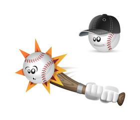 Baseball fun cartoon