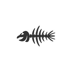 Fish bone icon isolated on a white background