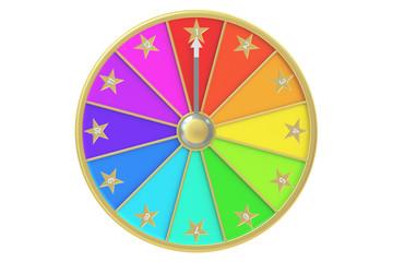 wheel of fortune, 3D rendering