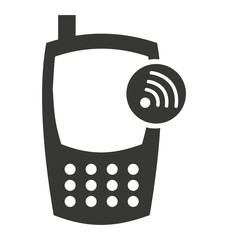 cellphone silhouette isolated icon