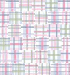 Madras Pattern Background - Pink/Blue/Green
