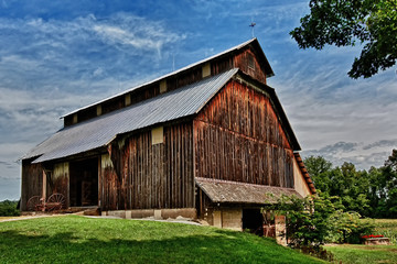 Old barn in rural Parke County Indiana