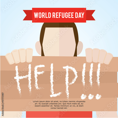 World Refugee Day Campaign Poster Awareness Template