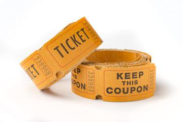 Old ticket stubs