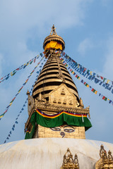 The Buddhist shrine of Swayambhunath in Kathmandu.