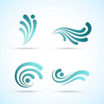 Abstract wave logos