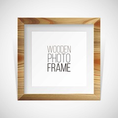Wooden photography frame