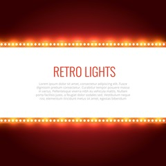 Retro lights background