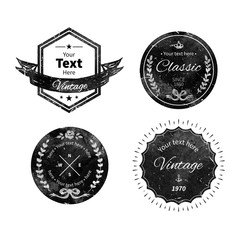Badge collection in grunge style