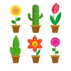 Funny flowerpots collection