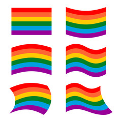 LGBT Flag. set symbol for lesbian and gay community. Developing
