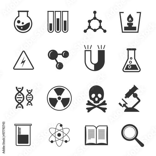 Science Vector Pictograms Genetics Algebra Chemistry Biology