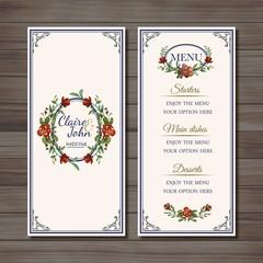 floral marriage menu
