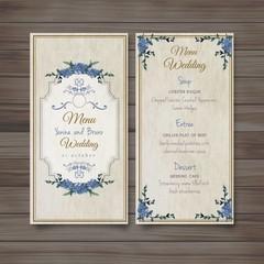 old fashioned wedding menu
