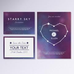 Galactic wedding invitation