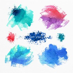 Abstract paint stains