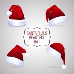 Beautiful santa claus hats