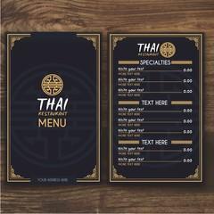 Thai menu template