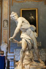 Aluminium Prints Historic monument Marble sculpture David by Gian Lorenzo Bernini in Galleria Borghese, Rome, Italy