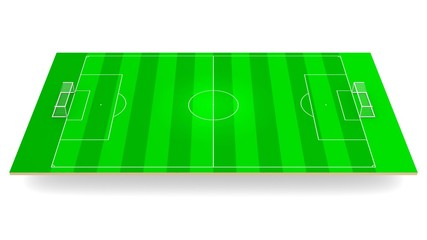 Green soccer field 3d