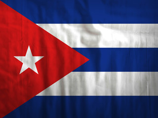 Fabric Cuba flag background