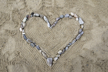 Heart of stones on the beach 3