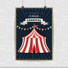 Carnival tent poster