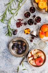 Summer fresh fruit variety