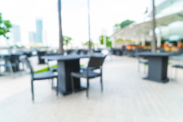 Abstract blur outdoor restaurant for background