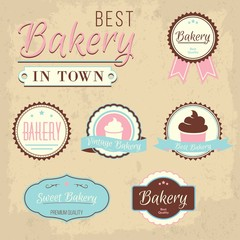 Best bakery in town badges