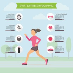 Sporty life infography