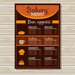 Bakery menu orange template