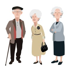 Old people illustration