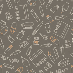 Seamless pattern with stationery design element