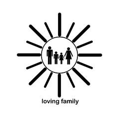 Loving family inside sun