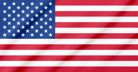 Waving flag of United States