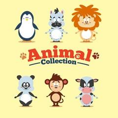 Funny cartoon animal collection