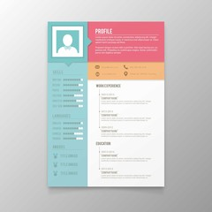 Colors resume template