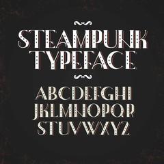 Alphabet in steampunk style