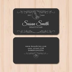 Elegant beauty card