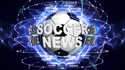 SOCCER NEWS Text and Ball