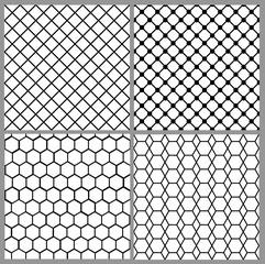 Fototapeta seamless net patterns obraz