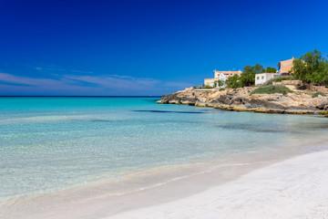 Fototapete - Beach Es Trenc - beautiful coast of Mallorca, Spain