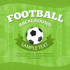 Green football background