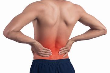 Backache isolated.