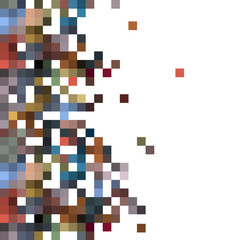Pixelated Effect Multicolored Background with squares