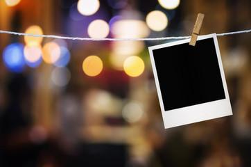 Photo frame paper hanging