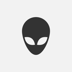 Alien head icon. Vector illustration